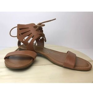 Jessica Simpson Gladiator Sandals Brown Leather 10